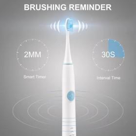 BUBM Sikat Gigi Elektrik Sonic Toothbrush Chargerable - H3 - White - 7
