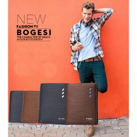 Bogesi Dompet Kulit Pria Horizontal - BOGESI - B01R724 - Black - 6