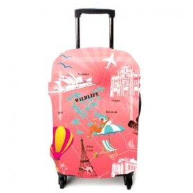 Cover Pelindung Koper Size S - Pink