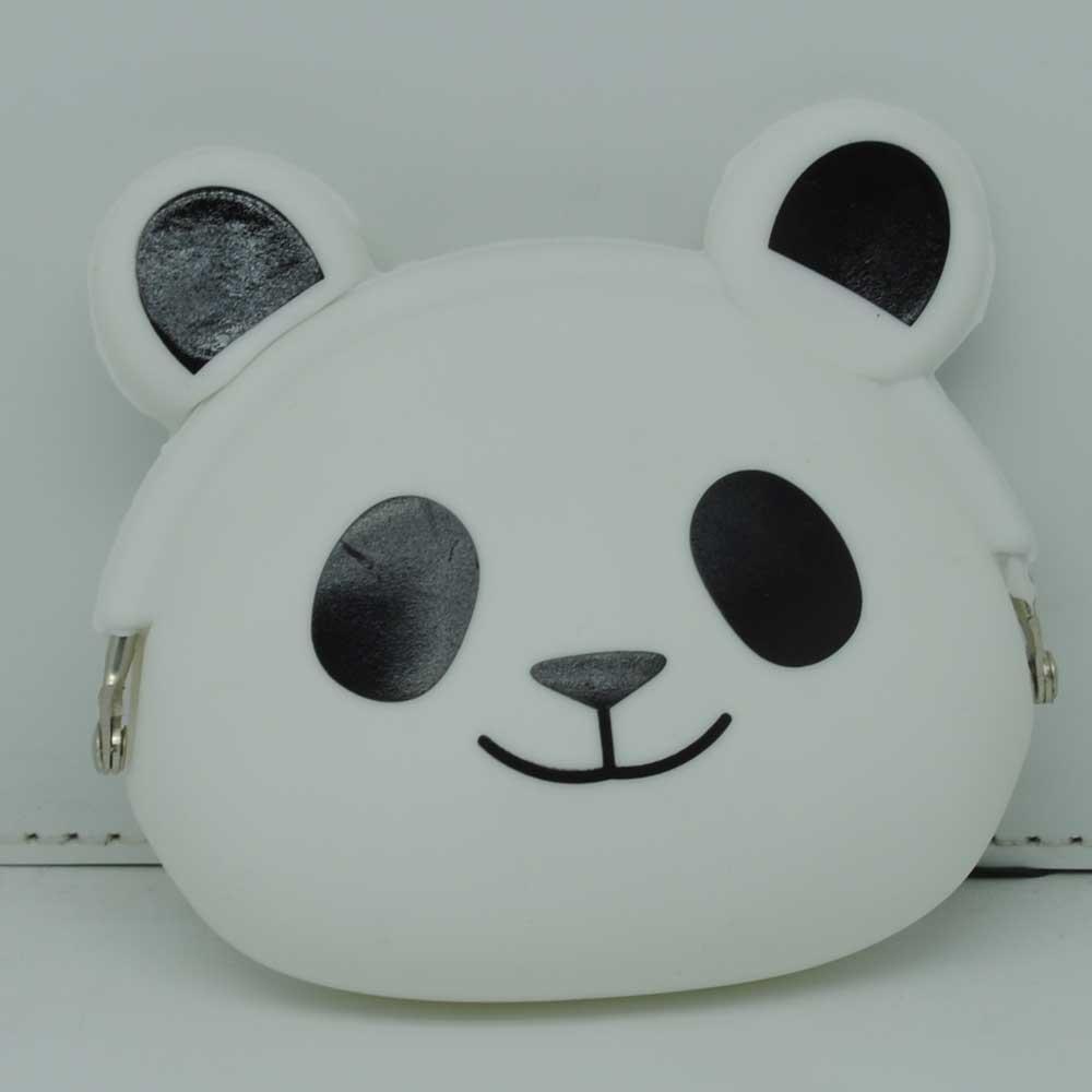 Dompet Koin Bentuk Panda White Silicon Hello Kitty New 1
