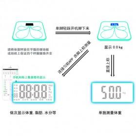 Timbangan Badan Elektronik Bluetooth - Taffware SC-08 - Black - 5