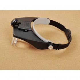 Kacamata Pembesar Baca 1.2x-3.5x Magnifier - Black