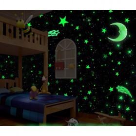 Stiker Dekorasi Bintang Glow in Dark 3.8cm 50 PCS - Dark Blue - 6