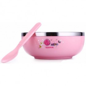 Mangkuk Insulasi Stainless Steel - Pink