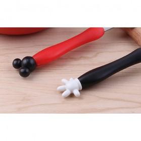 Sendok Garpu Mickey Mouse Size L - Black/Red - 4