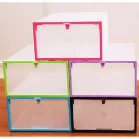 Kotak Sepatu Plastik Bongkar Pasang Shoe Rack Storage Box - XYG089 - Multi-Color - 1