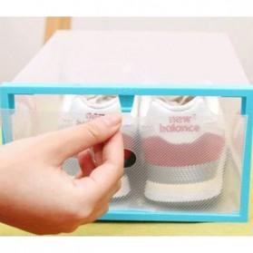 Kotak Sepatu Plastik Bongkar Pasang Shoe Rack Storage Box - XYG089 - Multi-Color - 3