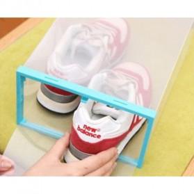 Kotak Sepatu Plastik Bongkar Pasang Shoe Rack Storage Box - XYG089 - Multi-Color - 4