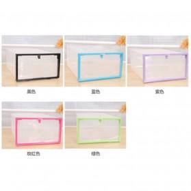Kotak Sepatu Plastik Bongkar Pasang Shoe Rack Storage Box - XYG089 - Multi-Color - 5