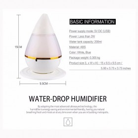 Taffware Mini Ultrasonic Air Humidifier Aroma Therapy - HUMI H121 - Blue - 5