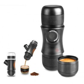 Nathome Mini Portable Espresso Maker - Black