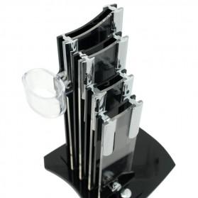 Rak Pisau Dapur 4 Slot dengan Tempat Pemotong Buah - Black - 2