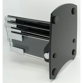 Rak Pisau Dapur 4 Slot dengan Tempat Pemotong Buah - Black - 4
