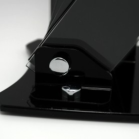 Rak Pisau Dapur 4 Slot dengan Tempat Pemotong Buah - Black - 5