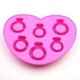 Cetakan Es Batu - Cetakan Es Batu Model Cincin - Pink