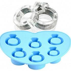 Cetakan Es Batu Model Cincin - Blue