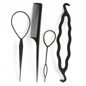 Hair Styler - Alat Styling Sanggul Rambut - PF008 - Black