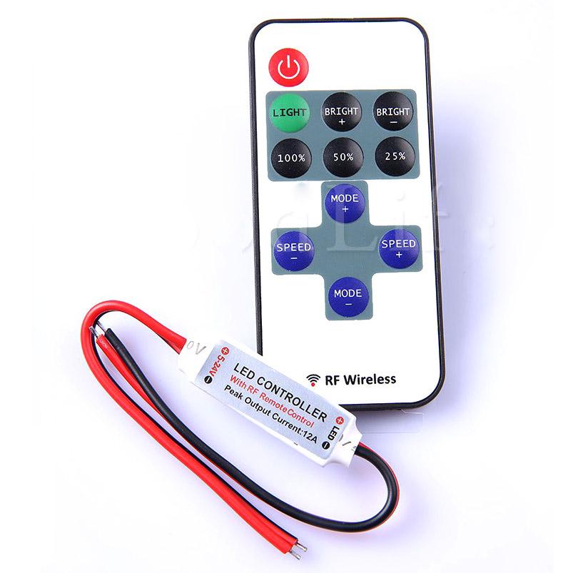 LED Amplifier DC12V for 5050 3528 RGB//Single Color 5630 7020 LED Light Strip