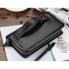 Dompet Kulit Pria Premium Model Panjang - Black - 3