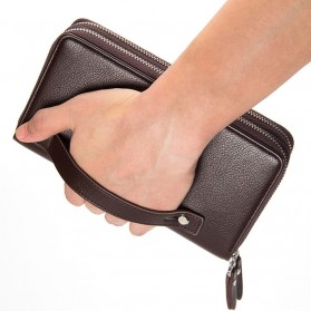 Dompet Kulit Pria Premium Model Panjang - Black - 4