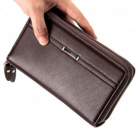 Dompet Kulit Pria Premium Model Panjang - Black - 5