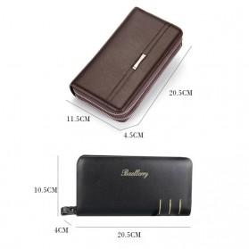 Dompet Kulit Pria Premium Model Panjang - Black - 7