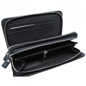 Dompet Kulit Pria Premium Model Panjang - Black - 8