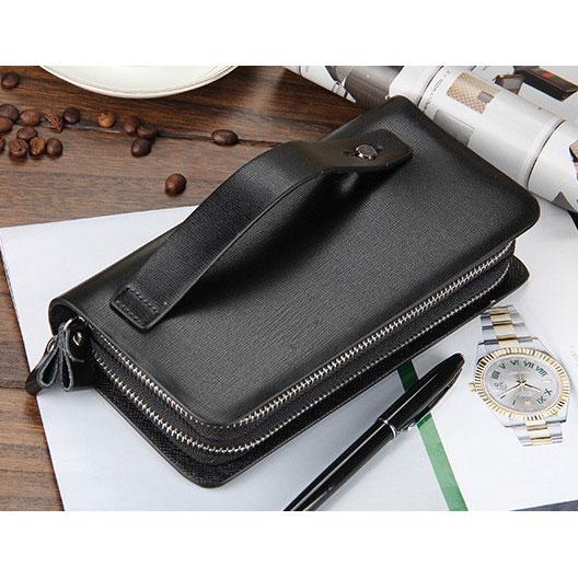 ... Dompet Kulit Pria Premium Model Panjang - Black - 3 ...
