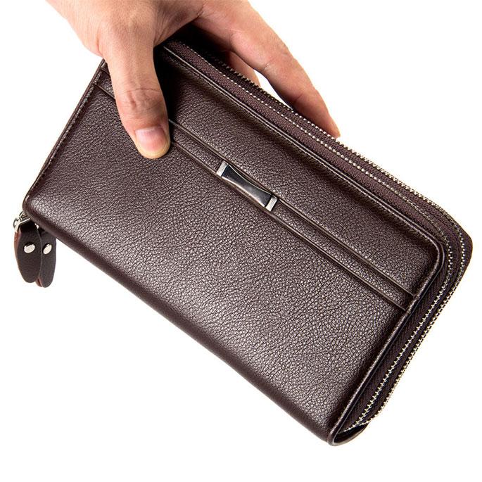 ... Dompet Kulit Pria Premium Model Panjang - Black - 5 ...
