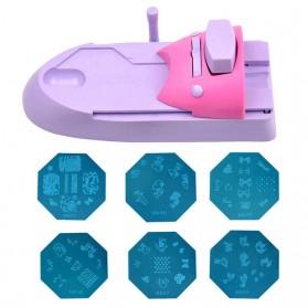 Mesin Cetak Kuku Nail Art Printer - Purple