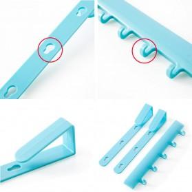 Rak Gantungan Peralatan Dapur model Hook - Blue - 2