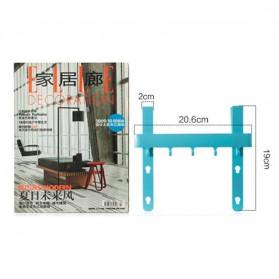 Rak Gantungan Peralatan Dapur model Hook - Blue - 3