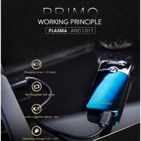 PRIMO Korek Elektrik Pulse USB Charging - Black - 5