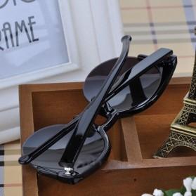 Moonar Kacamata Vintage Cat Eye UV400 - Black - 3