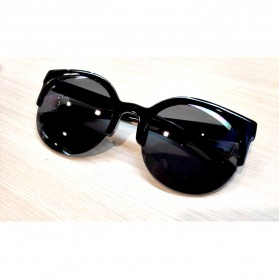 Moonar Kacamata Vintage Cat Eye UV400 - Black - 6