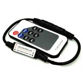 RF Wireless Remote Control untuk LED Strip - Black