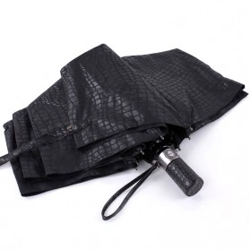 Payung Desain Elegan Motif Kulit Ular - Black - 2