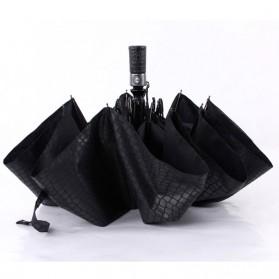 Payung Desain Elegan Motif Kulit Ular - Black - 3