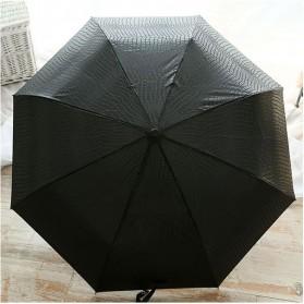 Payung Desain Elegan Motif Kulit Ular - Black - 6