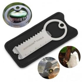 AOTDDOR Multi Tools EDC Gantungan Kunci Multifungsi - V3V95 - Silver - 4