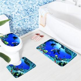 Karpet Keset Dekorasi 3D - Blue