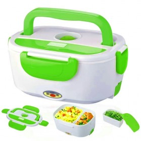 Kotak Makan dengan Pemanas Listrik 12V - Green