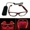 Kacamata DJ Glow LED - Red