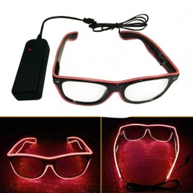 Kacamata DJ Glow LED - Red