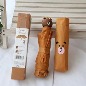 Payung Lipat Model Bear Brown - Brown - 2