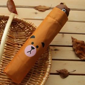 Payung Lipat Model Bear Brown - Brown - 3
