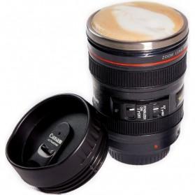 CANIAM Gelas Tumbler Bentuk Lensa Kamera 400ml - EF24 - Black