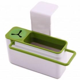 ISHOWTIENDA Tempat Sabun Cuci Piring dengan Gantungan Handuk - QW-821 - White