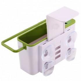 ISHOWTIENDA Tempat Sabun Cuci Piring dengan Gantungan Handuk - QW-821 - White - 2