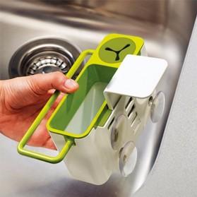 ISHOWTIENDA Tempat Sabun Cuci Piring dengan Gantungan Handuk - QW-821 - White - 6